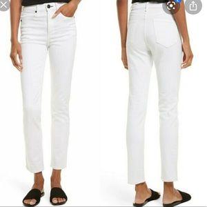 New Rag & Bone 25 White Cigarette Ankle Jeans